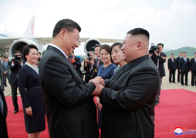 الزيارة الأولى من نوعها منذ 11 عاما، الرئيس الصيني شي جين بينغ يزور بيونغ يانغ، كوريا الشمالية 21 يونيو/ حزيران 2019