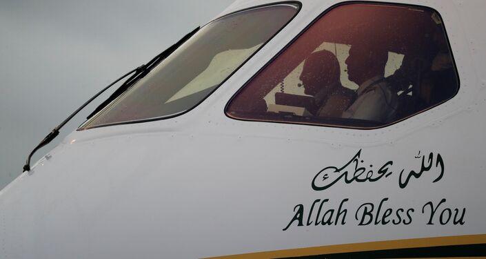 وصول الطائرة التي تقل ولي العهد السعودي الأمير محمد بن سلمان أوساكا باليابان