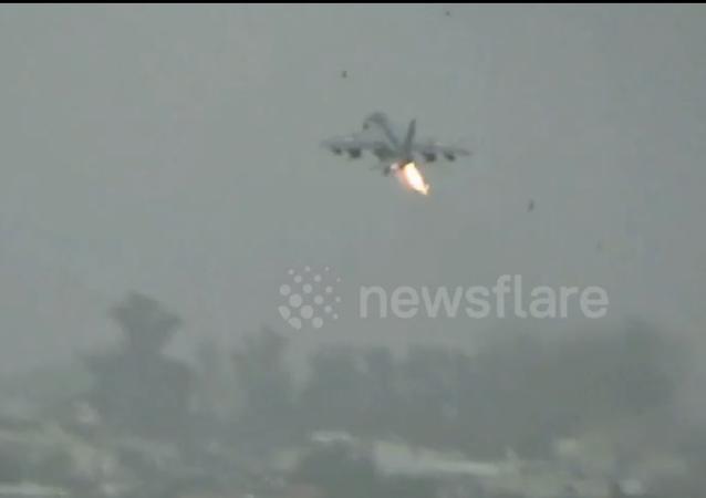 طائر يجبر مقاتلة حربية على رمي حمولتها من القنابل وخزان الوقود