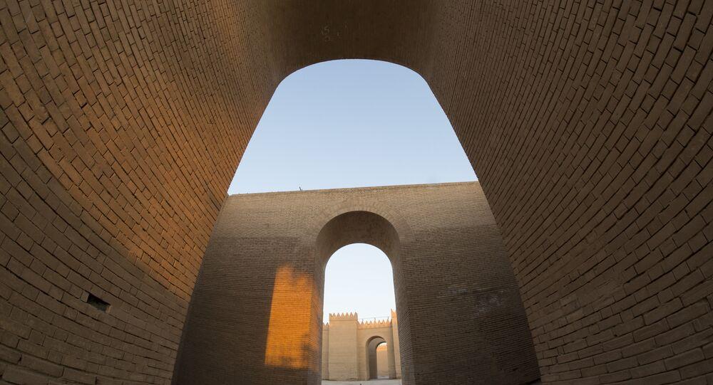 القصر الشمالي في موقع بابل الأثري القديم، جنوب العاصمة العراقية بغداد.