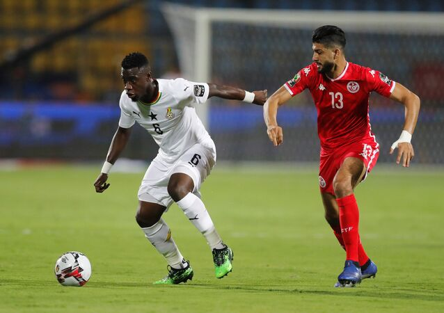 مباراة تونس وغانا في كأس الأمم الأفريقية