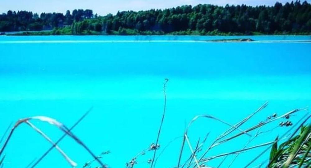 بحيرة في نوفوسيبيرسك الروسية