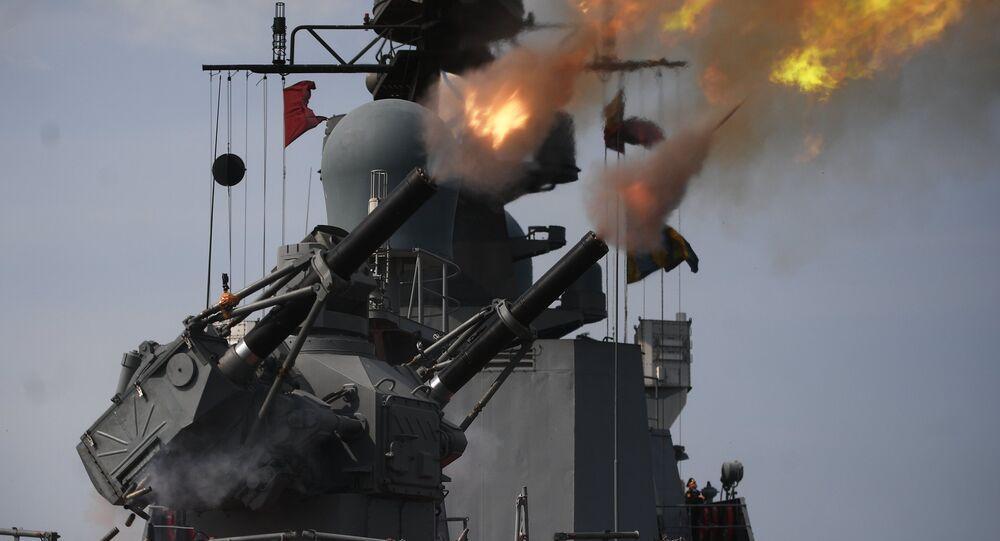 تدريب وحدات من القوات البحرية الروسية