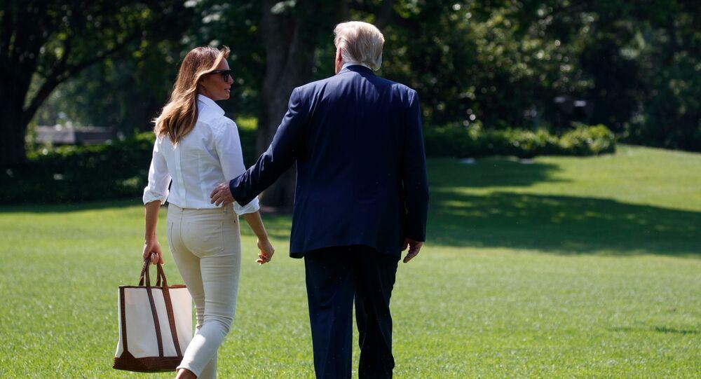 الرئيس الأمريكي دونالد ترامب مع زوجته ميلانيا ترامب