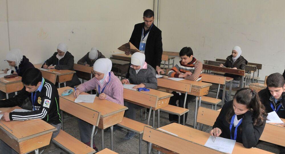 طلاب في سوريا