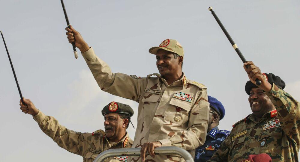 نائب رئيس المجلس العسكري السوداني قائد قوات الدعم السريع حميدتي