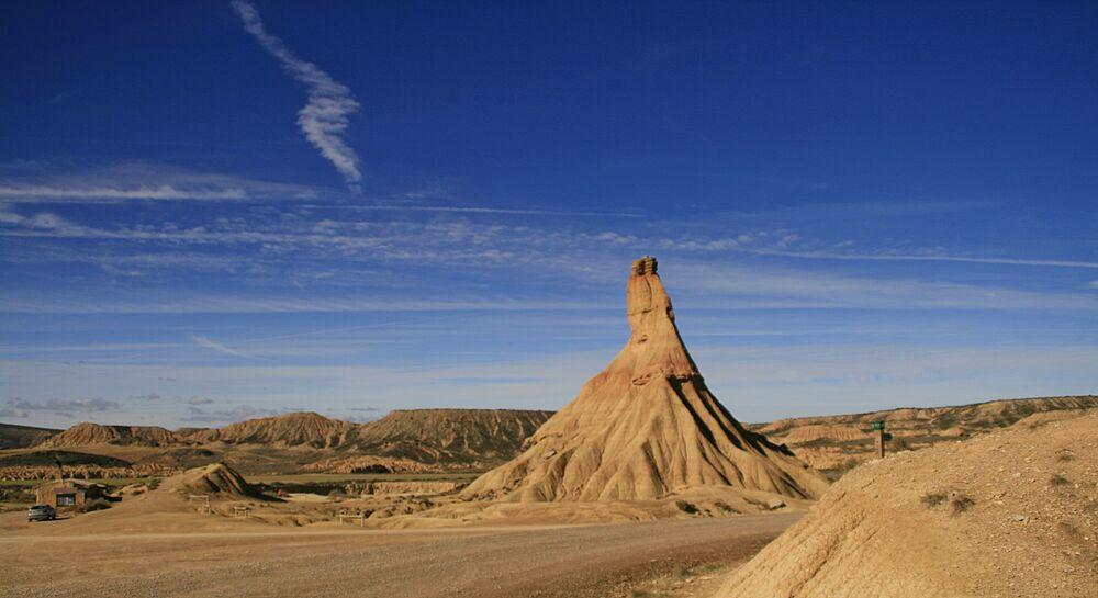منطقة بارديناس رياليس شبه صحراوية في مقاطعة نافار الإسبانية
