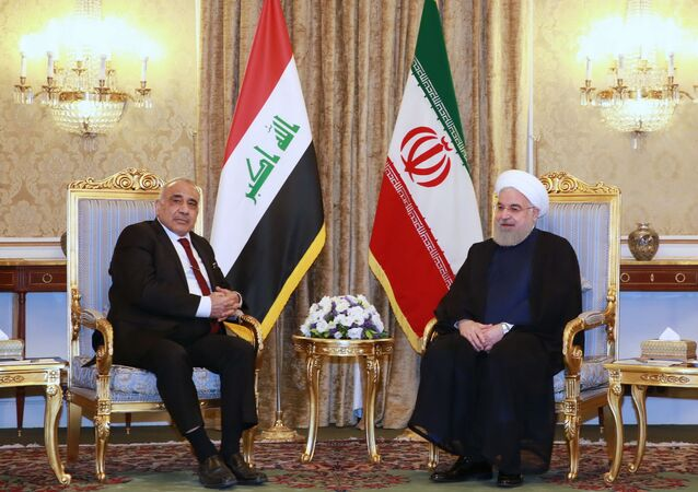 روحاني خلال استقباله لرئيس الوزراء العراقي عادل عبد المهدي