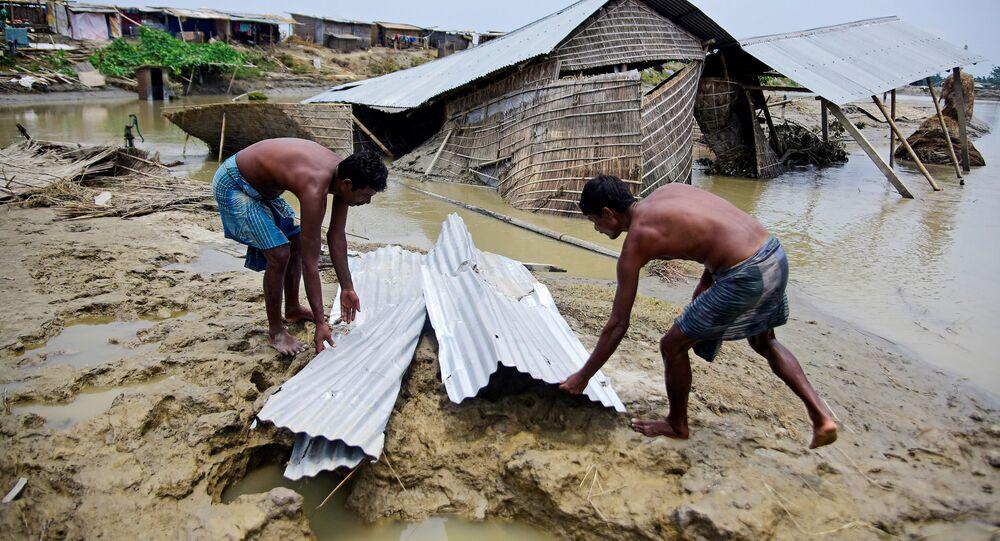 السيول في الهند ونيبال وبنجلادش