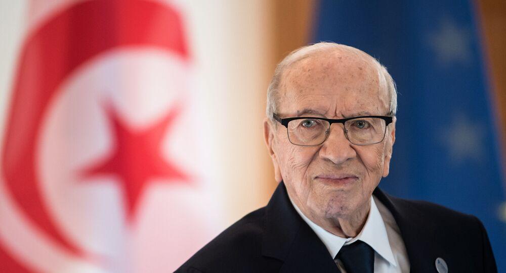 الرئيس التونسي الراحل الباجي قائد السبسي، 2018