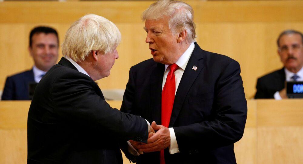 الرئيس الأمريكي دونالد ترامب و رئيس وزراء بريطانيا بوريس جونسون