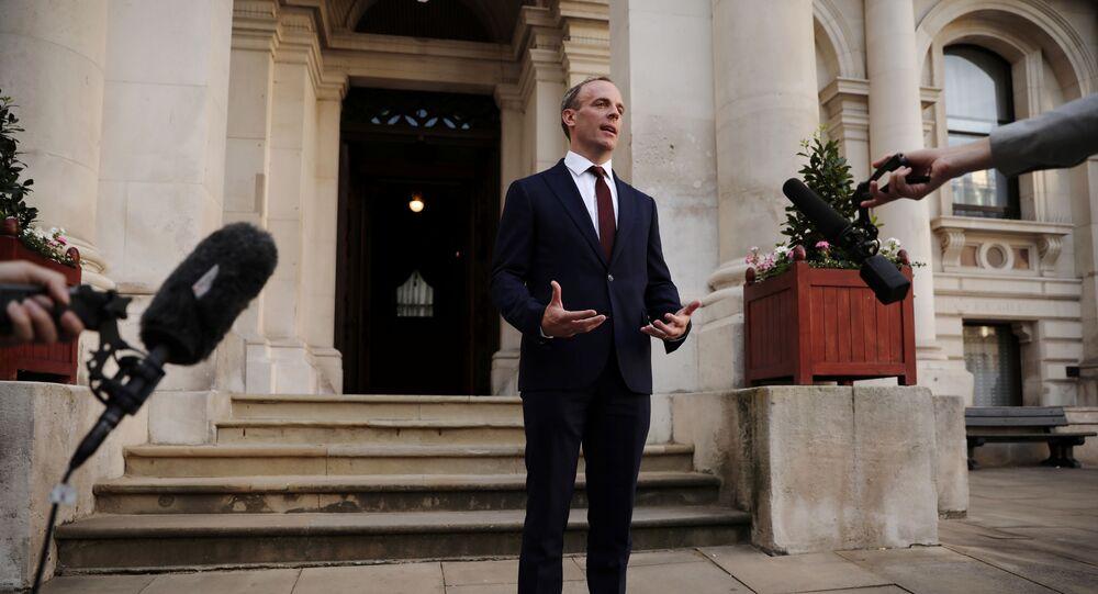 وزير الخارجية البريطاني الجديد دومينيك راب