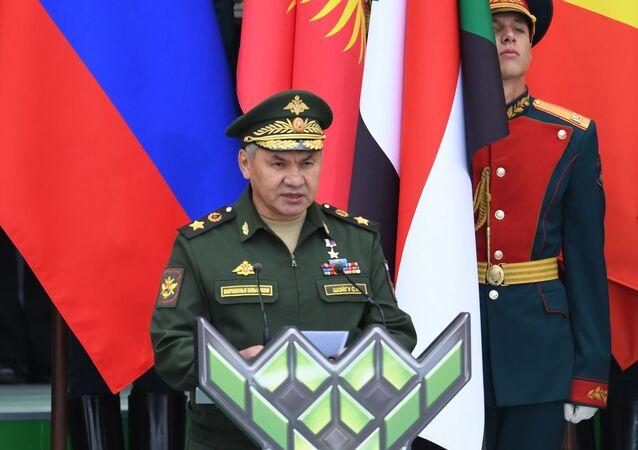 وزير الدفاع الروسي سيرغي شويغو في دورة المسابقات العسكرية الدولية الخامسة  آرميا - 2019