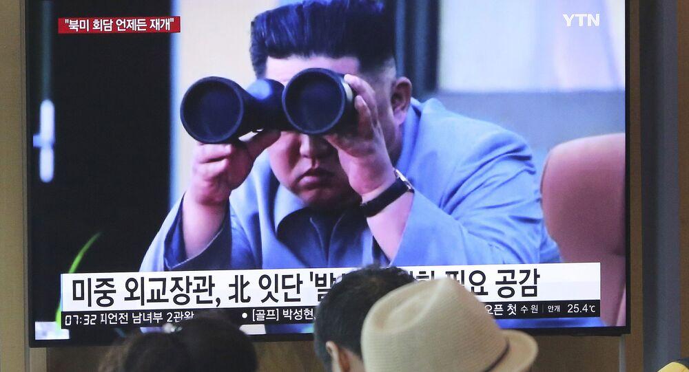 زعيم كوريا الشمالية يشهد إطلاق نوع جديد من الصواريخ التكتيكية الموجهة، 2 أغسطس/ آب 2019