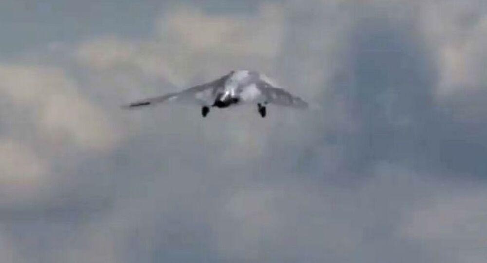 الرحلة الأولى للطائرة المسيرة أوخوتنيسك (الصياد) الروسي، 7 أغسطس/ آب 2019