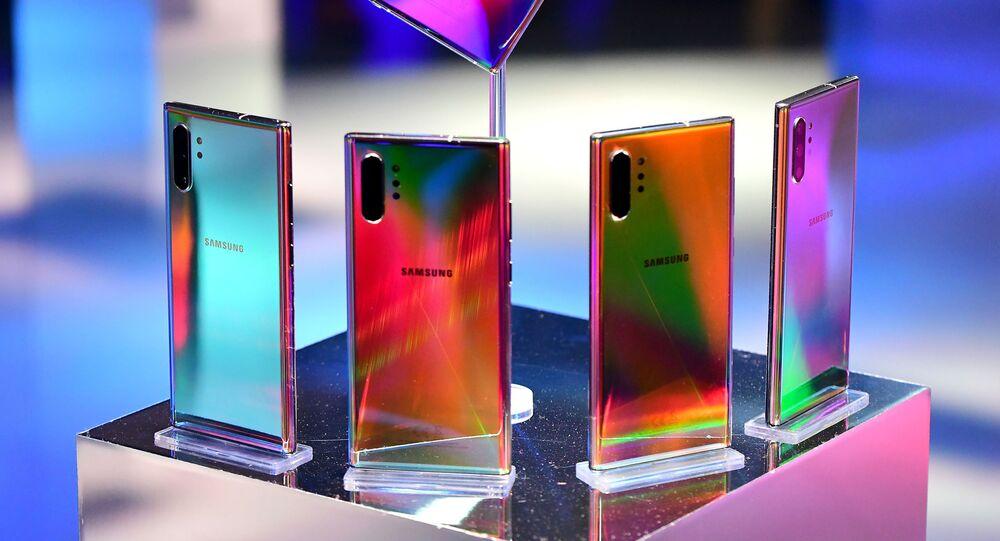 شركة سامسونغ تكشف رسميا عن منتجاتها الجديدة في مؤتمر عقد في نيويورك، 7 أغسطس/ آب 2019