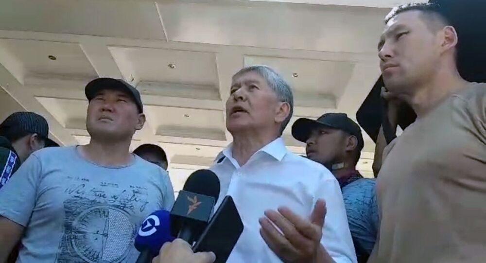الرئيس السابق لقيرغيزستان المازبك أتامباييف