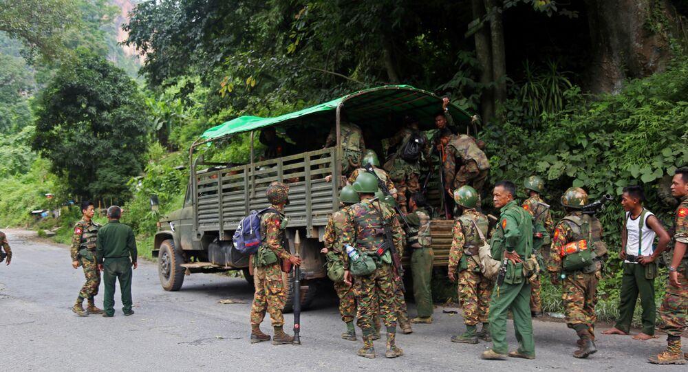قوات من جيش ميانمار، 15 أغسطس/ آب 2019