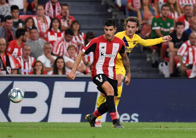مباراة برشلونة وأتلتيك بلباو في افتتاحية الدوري الإسباني