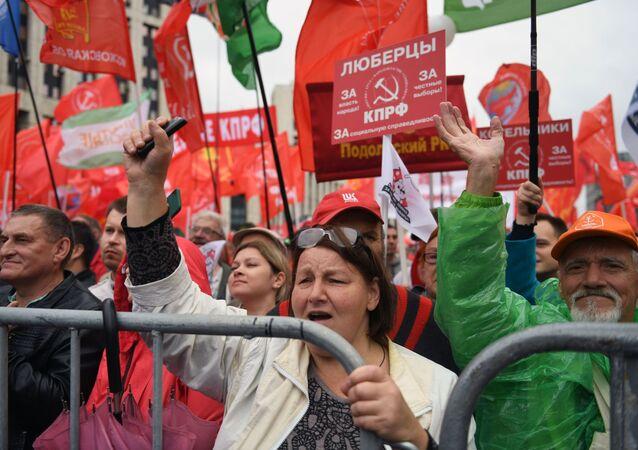 تجمع وسط موسكو من أجل انتخابات نزيهة