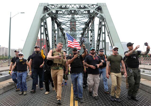 مظاهرات لأنصار اليمين المتطرف في بورتلاند الأمريكية