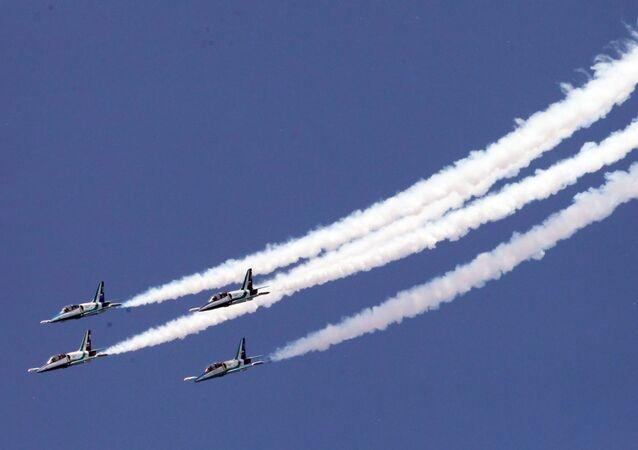 الطائرات خلال افتتاح مركز بحري-جوي في سانت بطرسبورغ