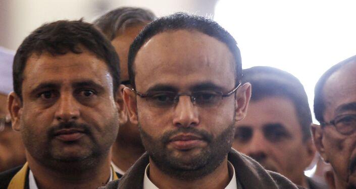 رئيس المجلس السياسي الأعلى المشكلة بصنعاء مهدي المشاط