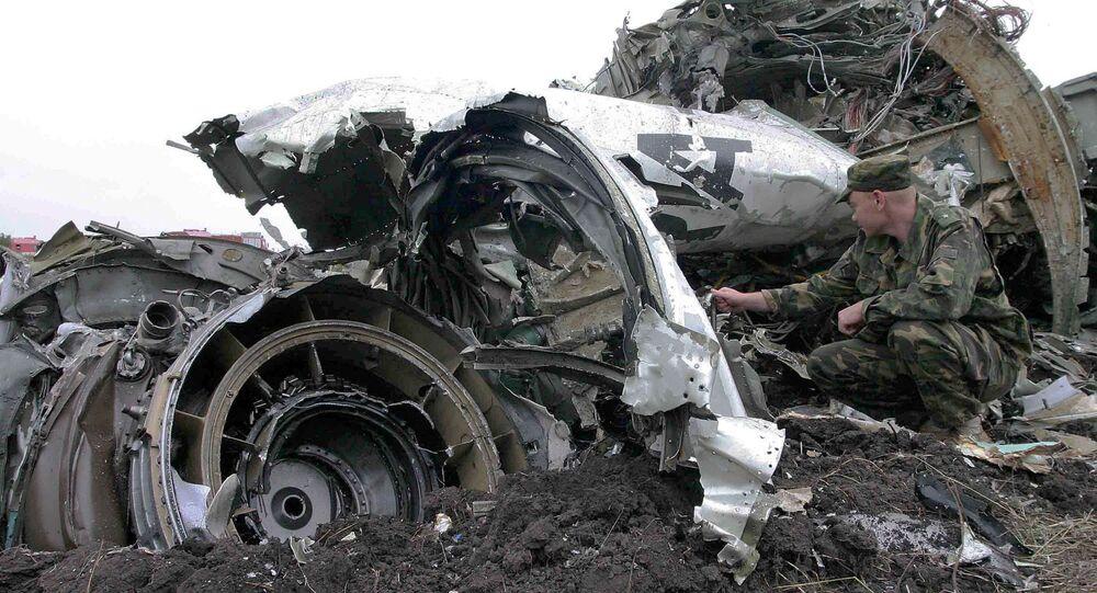 موقع سقوط طائرة تو-154