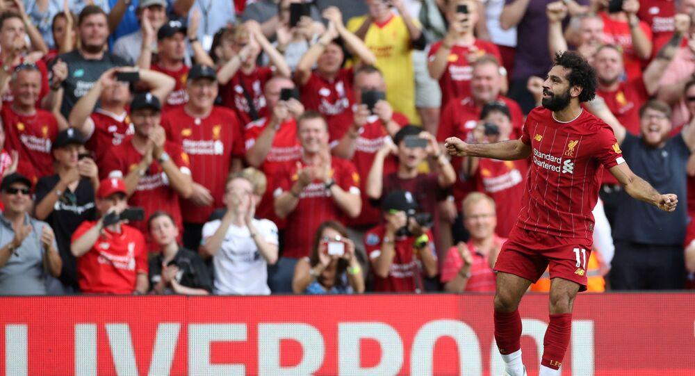 محمد صلاح في مباراة ليفربول وأرسنال بالجولة الثالثة من الدوري الإنجليزي
