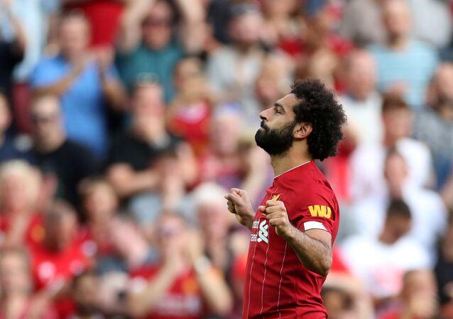 محمد صلاح في مباراة ليفربول وأرسنال، 24 أغسطس/آب 2019