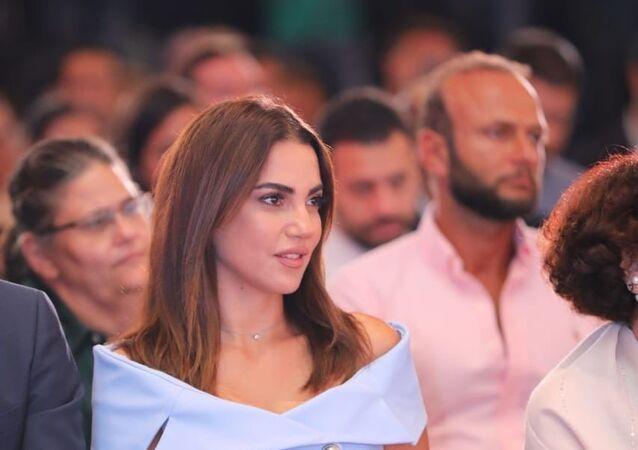 الممثلة التونسية درة خلال مؤتمر مهرجان الجونة السينمائي، القاهرة، 26 أغسطس/آب 2019