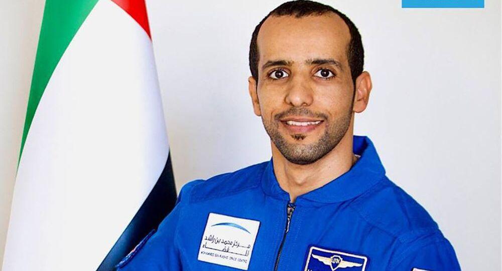 هزاع المنصوري، أول رائد فضاء إماراتي، الذي سيسافر إلى الفضاء في 25 سبتمبر/ أيلول، إلى محطة الفضاء الدولية