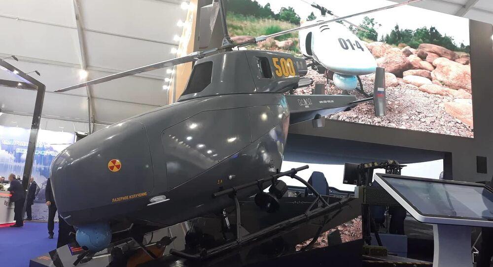 مروحيات استطلاع - طائرات مسيرة خفيفة الأولى من نوعها تعرض في معرض ماكس 2019 للطيران في جوكفسكي، ضواحي موسكو 27 أغسطس/ آب 2019