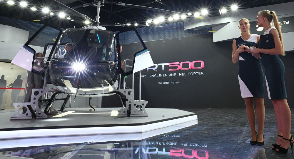 مروحية في إر تي 500 - معرض ماكس 2019 للطيران الجوي في مطار جوكوفسكي في ضواحي موسكو، 27 أغسطس/ آب 2019