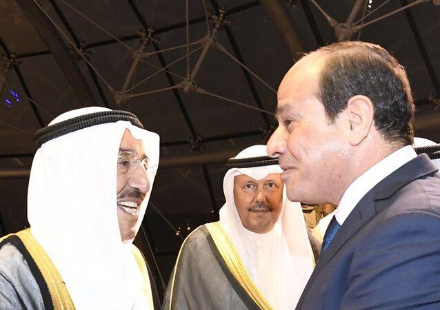 أمير الكويت الشيخ صباح الأحمد الجابر الصباح يستقبل الرئيس المصري عبد الفتاح السيسي