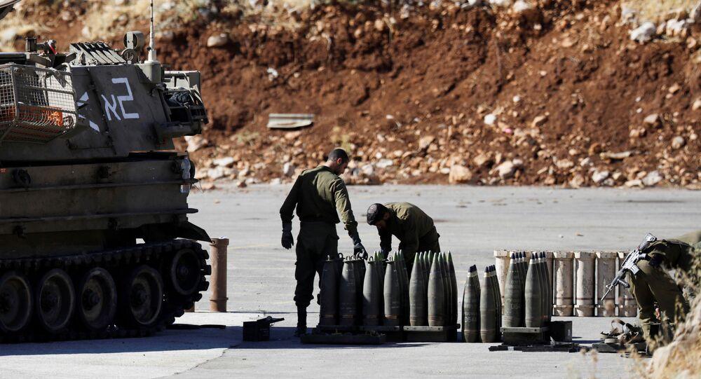 الجيش الإسرائيلي على احدود على الحدود اللبنانية الإسرائيلية بعد الأحداث الأخيرة بين إسرائيل وحزب الله