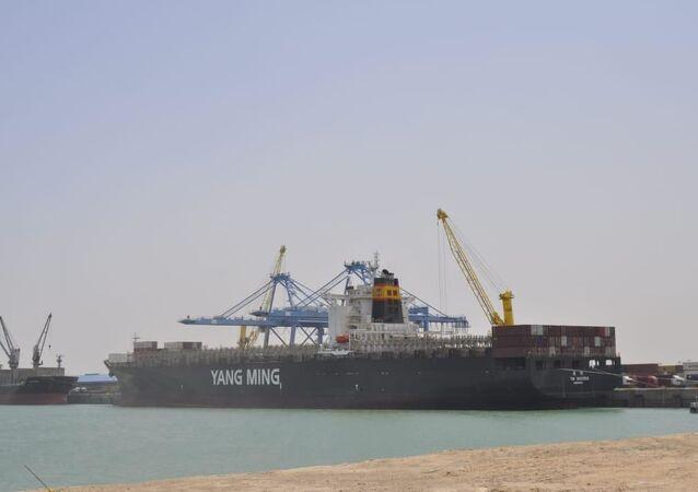 ميناء الواصلية الواقع في محافظة البصرة في جنوب العراق