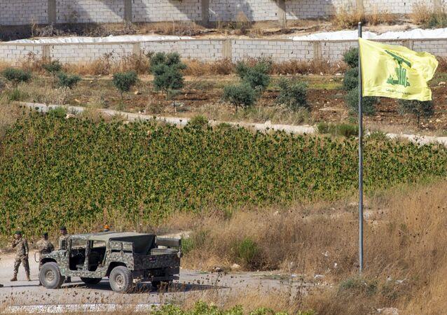 علم حزب الله، جنوب لبنان، الجنوب اللبناني، 27 أغسطس 2019