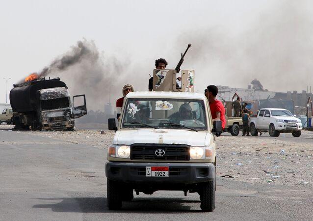 قوات المجلس الانتقالي الجنوبي، عدن، اليمن 29 أغسطس 2019