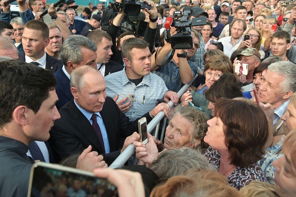 زيارة عمل للرئيسالروسي فلاديمير بوتين إلى منطة سيبيريا الفدرالية