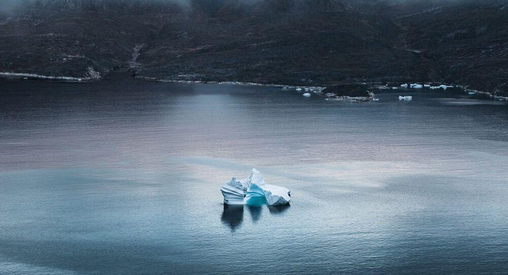 الجبال الجليدية في غرينلاند