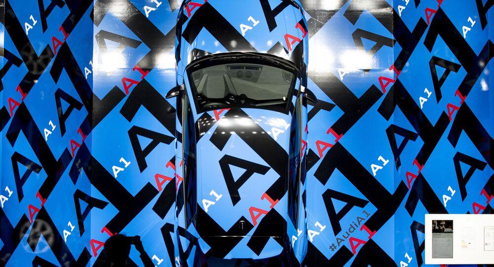 سيارة أودي أ1 (Audi A1)، في المعرض الدولي  للسيارات في فرانكفورت، ألمانيا 10 سبتمبر 2019