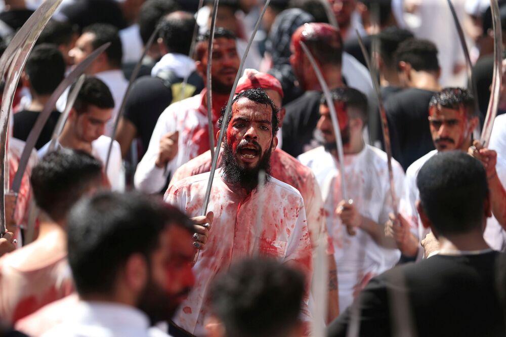 مسلمو الشيعة في يوم عاشوراء في منامة، البحرين 10 سبتمبر 2019