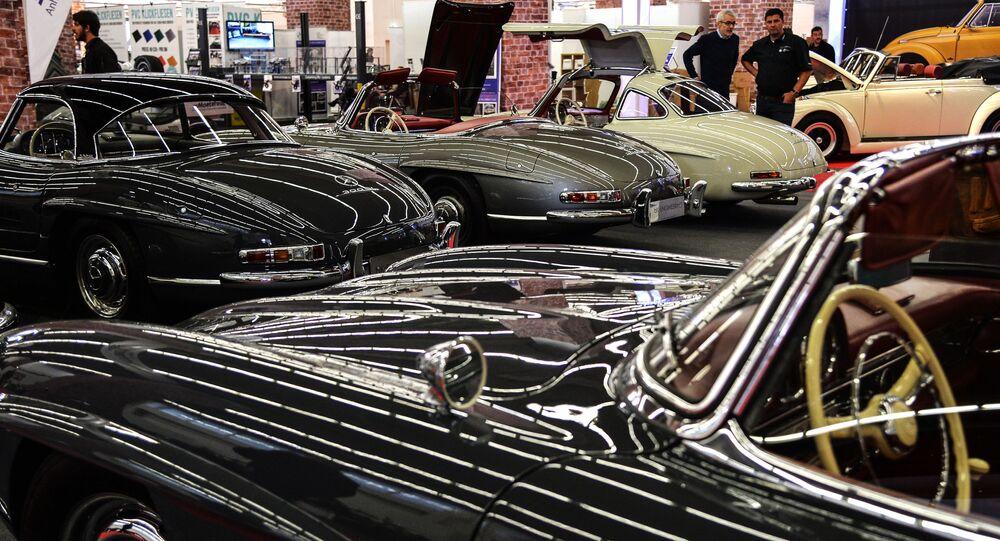 سيارات شركة مرسيدس في المعرض الدولي للسيارات في فرانكفورت، ألمانيا 10 سبتمبر 2019