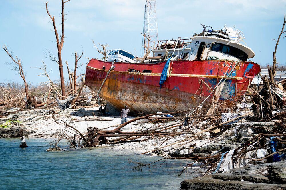 تداعيات إعصار دوريان على جزيرة أباكو، الولايات المتحدة 5 سبتمبر 2019