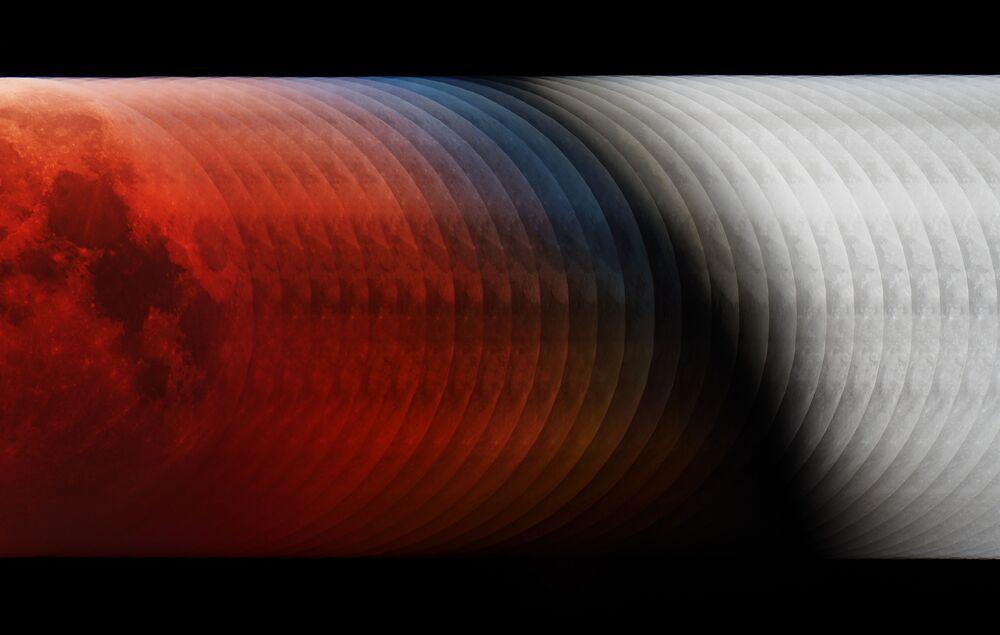صورة الظل (In the Shadow) للمصور الهنغاري لازلو فرانشسيكس، الذي فاز بمسابقة التصوير الفلكي لعام 2019