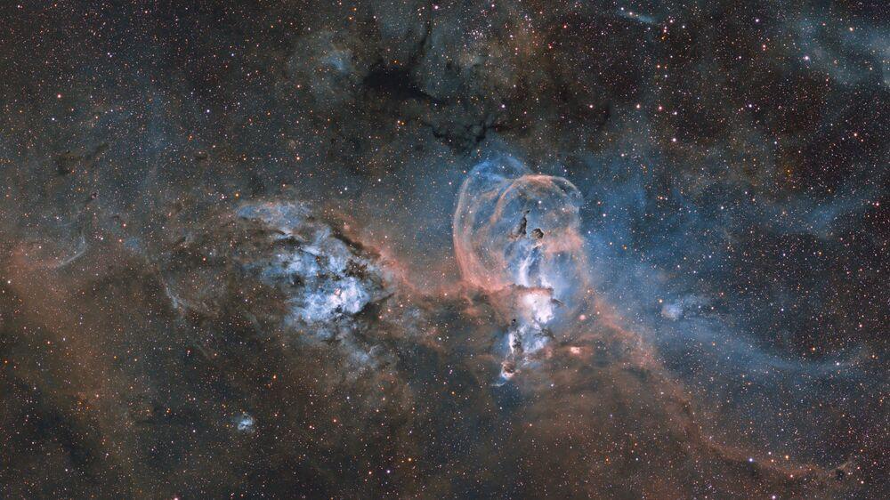 صورة لتمثال الحرية لسديم نيبولا (Statue of Liberty Nebula) المصور الأرجنتيني إغناسيو دياز بوبيلو، المركز الأول في فئة النجوم والسديم (STARS AND NEBULAE)