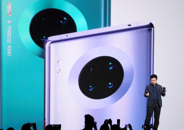 ريتشارد يو في مؤتمر إطلاق هاتف هواوي ميت 30 في ميونيخ بألمانيا، 19 سبتمبر/أيلول 2019