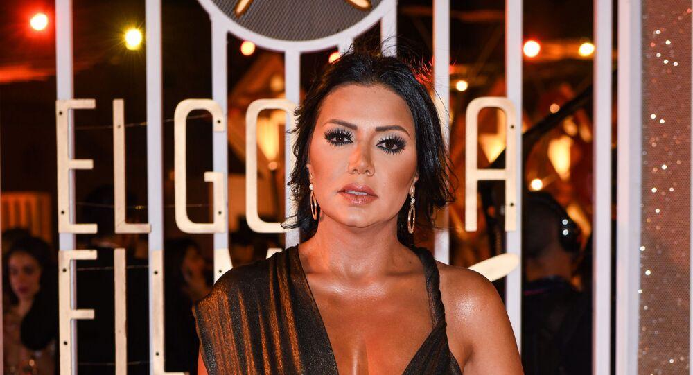 الفنانة المصرية رانيا يوسف في حفل افتتاح مهرجان الجونة السينمائي الثالث، الجونة، الغردقة، 19 سبتمبر/أيلول 2019