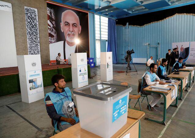 مركز اقتراع في الانتخابات الرئاسية، أفغانستان